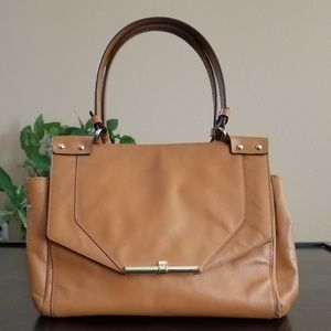 Used Vince Camuto tan brown handbag.